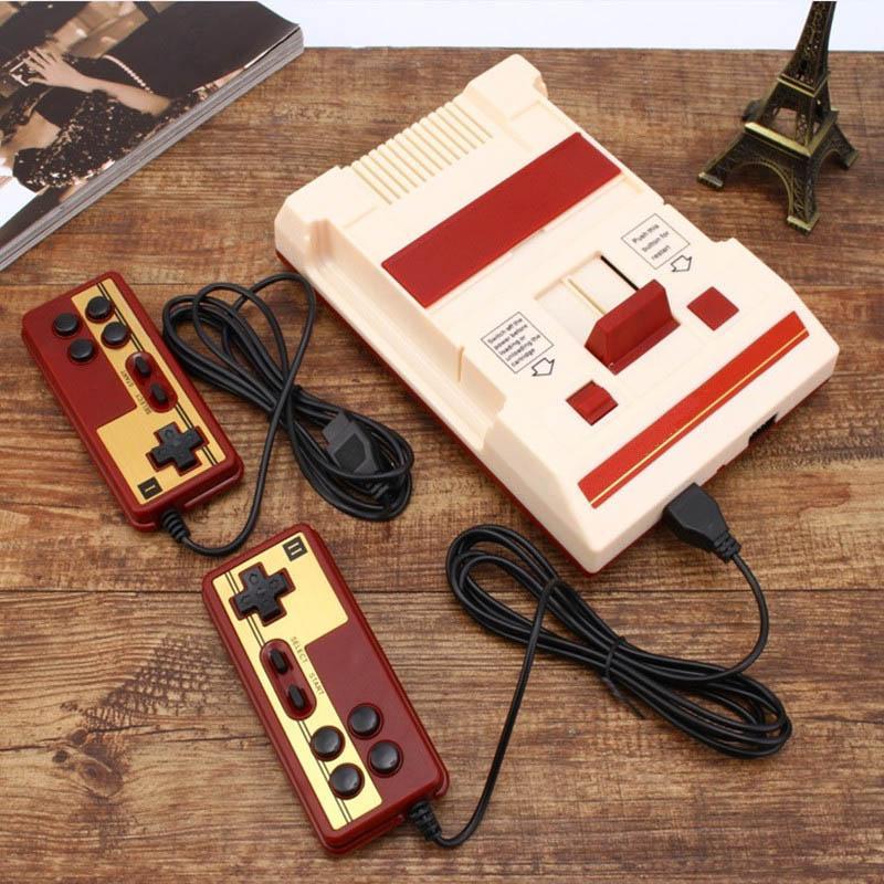2018 Retro Classic Handheld Video Family Game Console 8 bit to TV Kids Family 30 aniversario + 500 Tarjeta de juego 2 Controlador