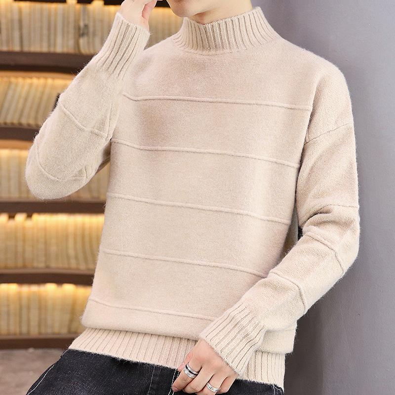 Мужские свитера зима толстые теплые водолазки кашемировой свитер мужчина высочайшее качество вытягивает Homme мода мужские рождественские и пуловеры