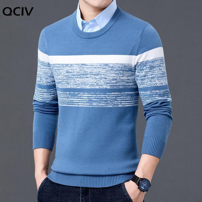 Hommes automne hiver décontracté Brand nouveau pull chaud pull pull baissez la chemise col de chemise hommes tricoter motif tentures pull manteau