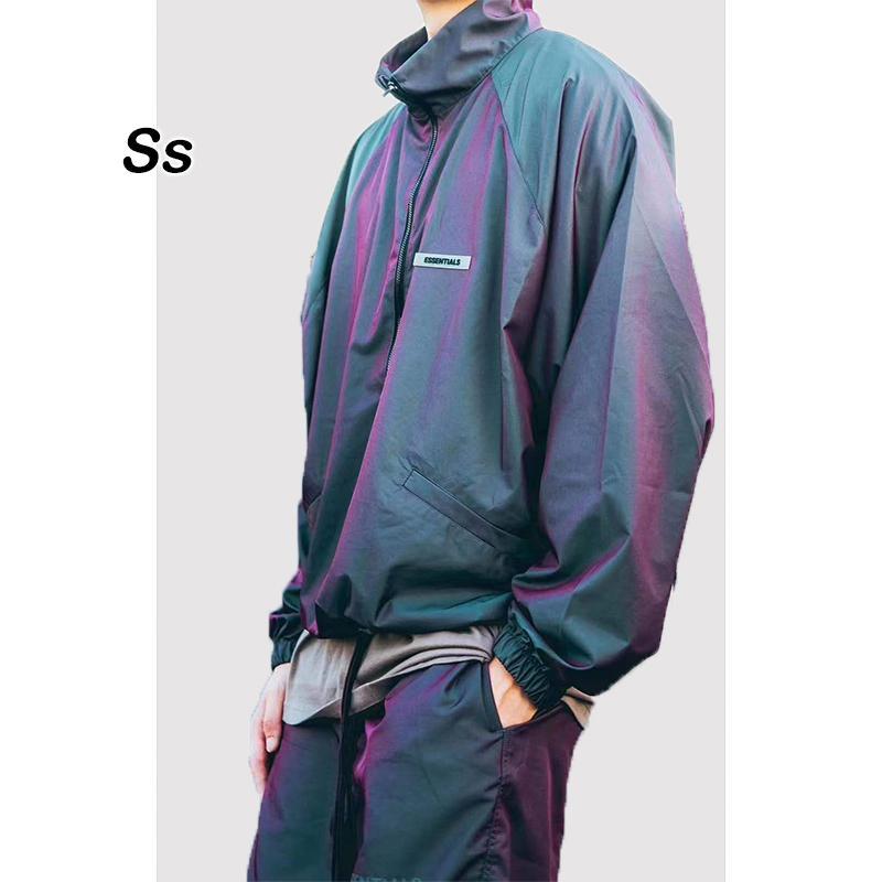 2021 novo meia zíper jaqueta de nevoeiro homens mulheres 1: 1 windbreaker de alta qualidade fita colorida essencials homens e casacos akzh