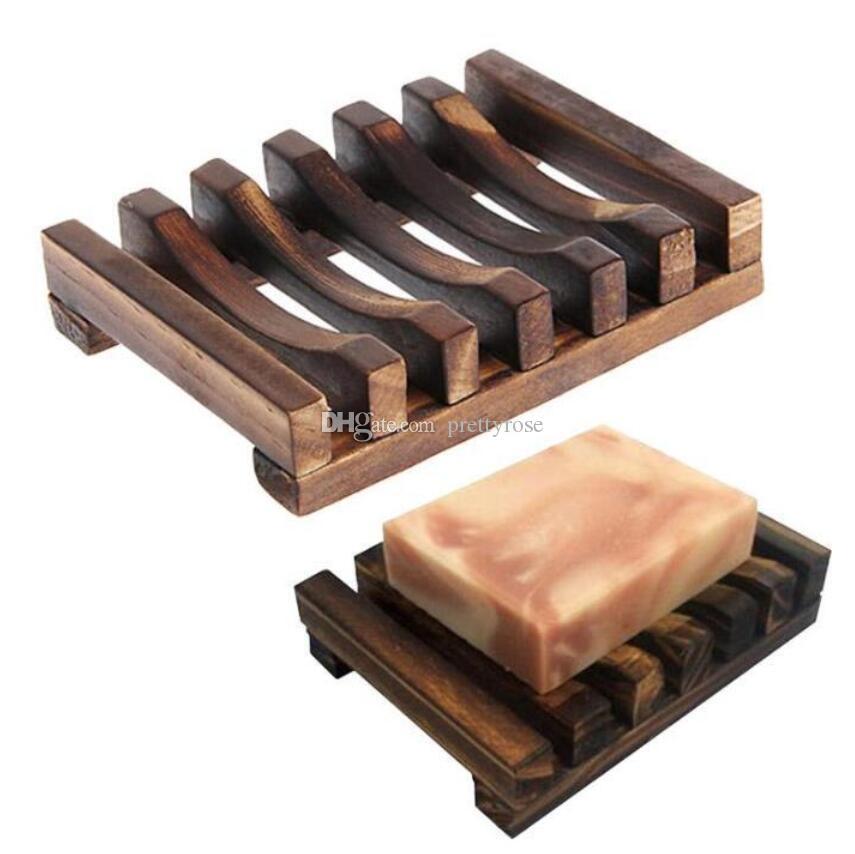 Naturel Carbonatation Mildaw Boîte de savon en bois Salle de bain Drain Savon Porte-savon Dépouti de salle de bain Accessoires de salle de bain cadeau Livraison Gratuite
