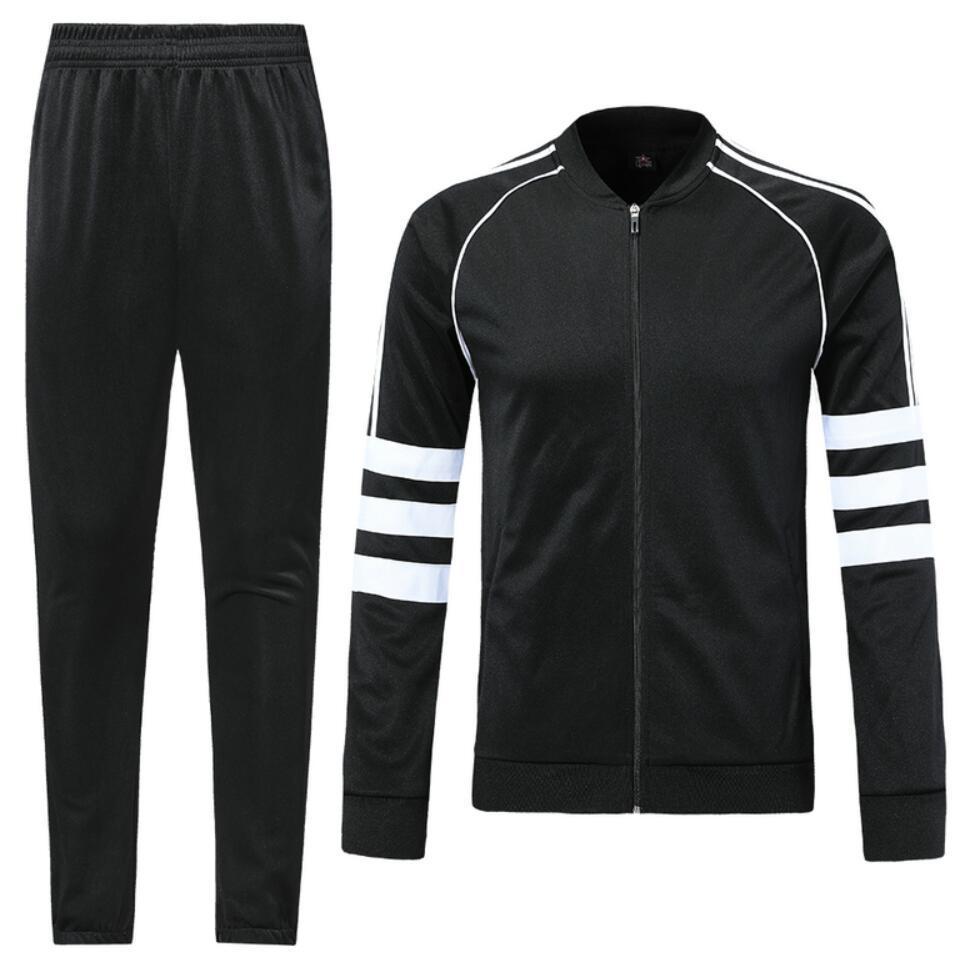0022 Veste de style décontracté Jerseys de football Maillot de pied Survèrent Full Zipper Jogging TrackSuit Kits Taille S-XL
