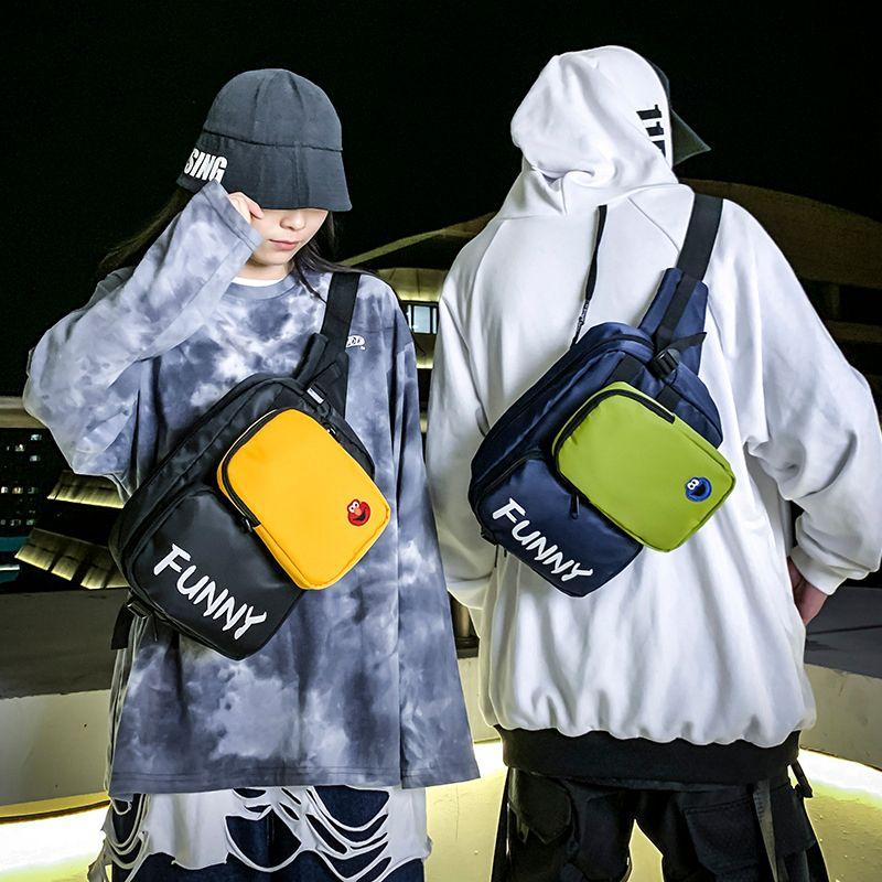 Men's waist Sports canvas chest bag 2020 Casual Belt Hip-Hop Fashion Bum Travel Fanny Pack Unisex C0305