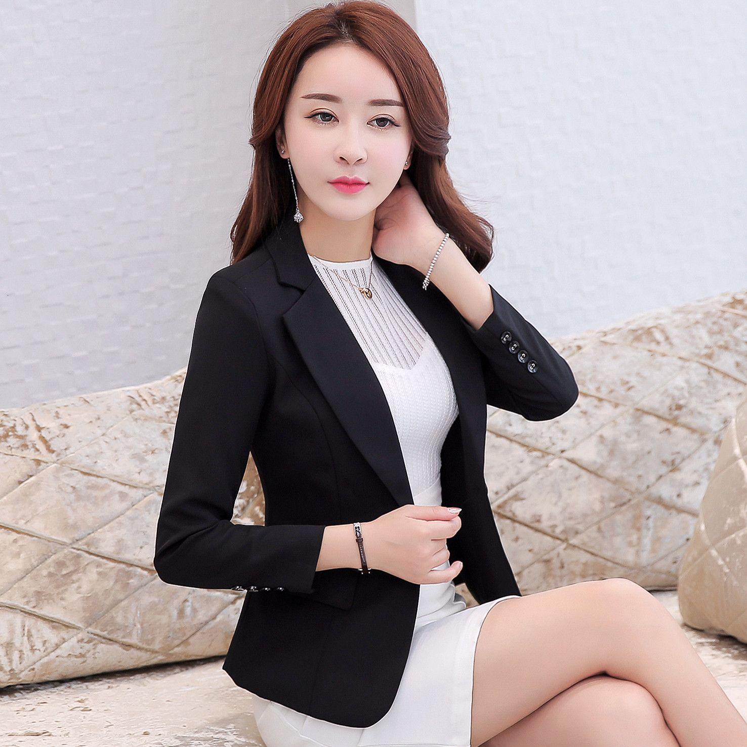 Kadın İlkbahar Sonbahar Giysileri Moda Ince Kısa Ceket Suit Bayanlar WZCW