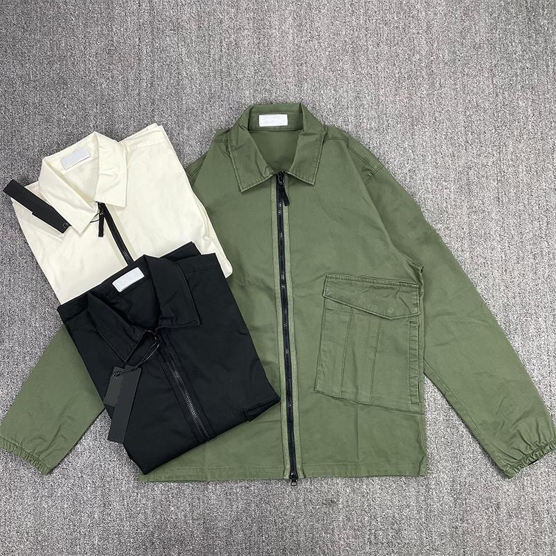 CP Topstoney 2021 새로운 편안한 지퍼 셔츠 캐주얼 거리 작업 착용 남성 자켓 야외 패션 스포츠 윈드 브레이커 코트