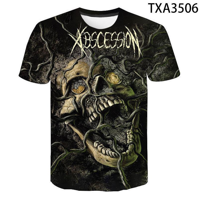 T-shirt da uomo 2021 estate la maglietta horror stampata donne / unisex rock hip-hop 3d tshirt bambini indossare materiale morbido e com velo