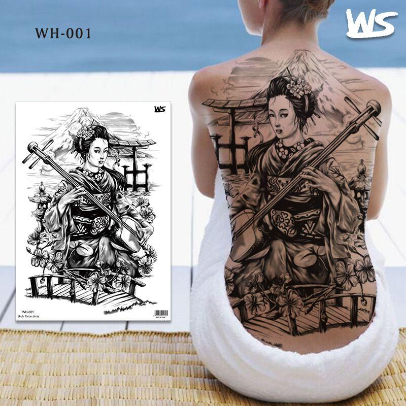 Impermeabile tatuaggio temporaneo autoadesivo croce ala angelo intero tatuaggio tatuaggio grande tatto flash tatuaggio tatuaggi falsi per le donne uomini ragazza