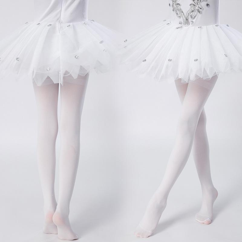 Neue Kinder Tanzsocken Weiß Mädchen Boden Hohe Elastizität Reine farbige Strumpfhose
