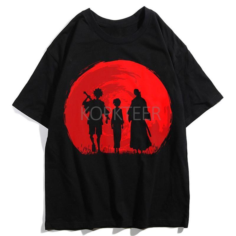 T-shirt da uomo Samurai Battaglia Mugen Jin Stray Dog Men Anime Summer Harajuku Streetwear Top Tees Abbigliamento