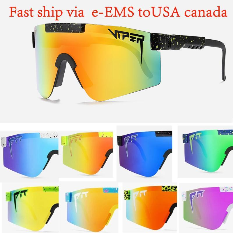 Nuova PIT Viper New Brand Brand Lens Verde Occhiali da sole Occhiali da sole polarizzati Sport 2021 Goggle TR90 Telaio UV400 Protezione con custodia