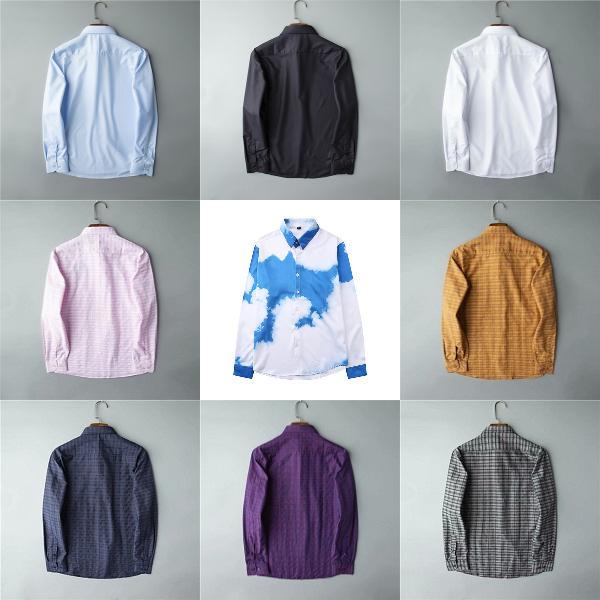 Дизайнер Мужские Пластические Рубашки Мода Повседневная Рубашка Бренды Мужчины Рубашки Весна Осень Тонкая Подходящие Рубашки Химисы De Marque Pole Hommes