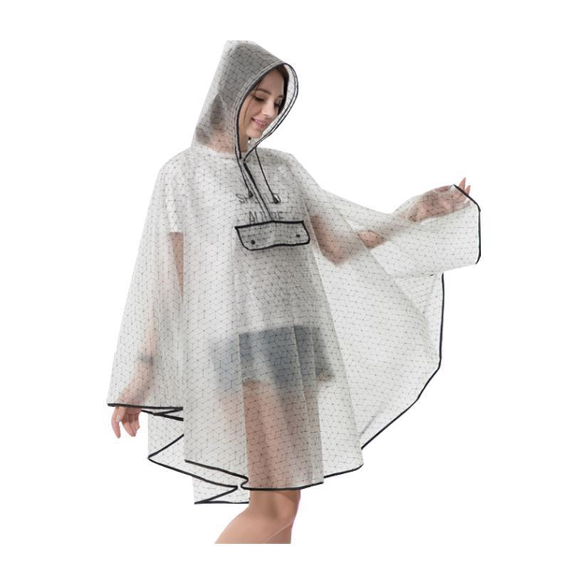 Jlltli eva plástico impermeável reutilizável moda hikin chuva capa chuva capa chuva homens qualidade poncho para novas mulheres llklg