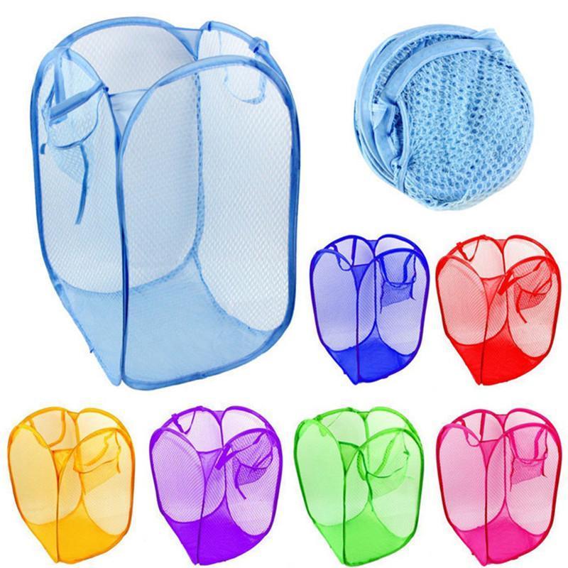 Wäscheservice Taschen Faltbare Tasche Mesh Waschen Schmutzige Kleidung Korb Startseite Sonnenbrüche Lagerung Organizer Kinder Spielzeug Container