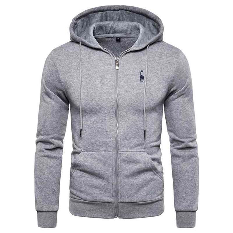 Automne hiver coton sweats à hoche sweats en sweats à capuche massif tweece épaisses Sweats à capuche pour hommes Sportswear Zipper Sweatshirts Hommes 210728