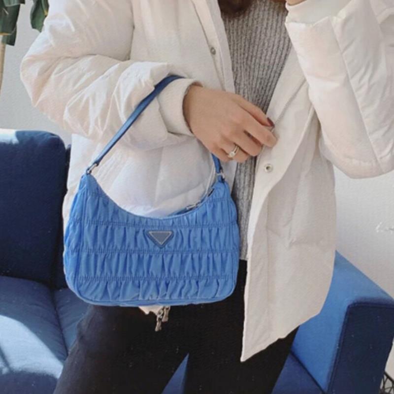 Hobos Tasche Handtaschen gefaltete Taschenqualität SMAL Größe 5A 5 Vielseitige Designer Handform Farben Reißverschluss Luxurys Innenbeutel LGKSJ