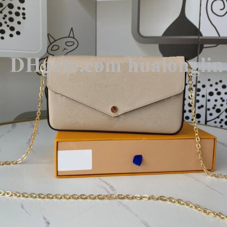 여성 핸드백 원래 상자 날짜 코드 숄더백 크로스 바디 패션 지갑 69977