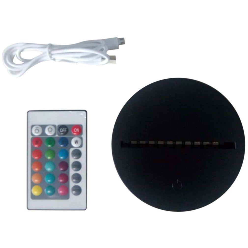 LED-Lampenbasen für 3D-Illusion Nachtlicht 7 Farben Berühren Schalter Ersatzbasis für 3D-Tischschreibtischlampen C0305