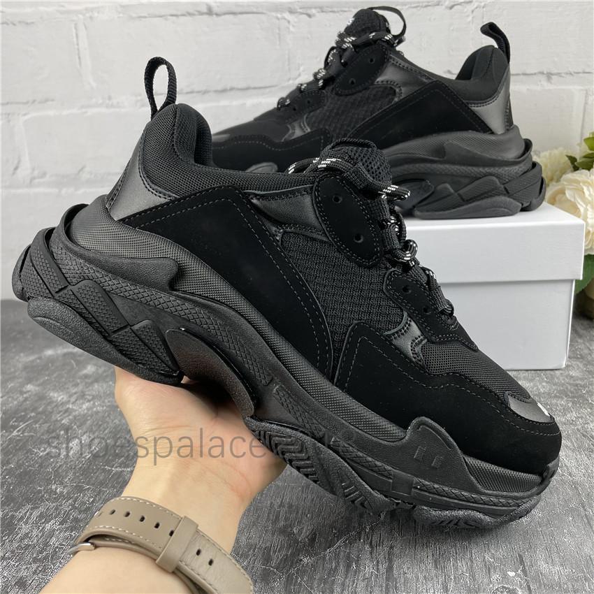 Moda Triple S Sneakers Classic Scarpe Casual Platform Plat Plat Intera Trainer Mens Womens Old Dad Scarpe Maglia Chaussures Tennis di alta qualità