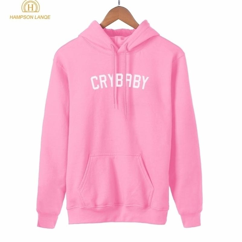 Hampson Lanqe Crybaby Cry Baby Kawaii Sweat-shirt rose Femme Nouveau Style Spring Spring Automne Femmes Sweat à capuche Casual Streetwear Y200917