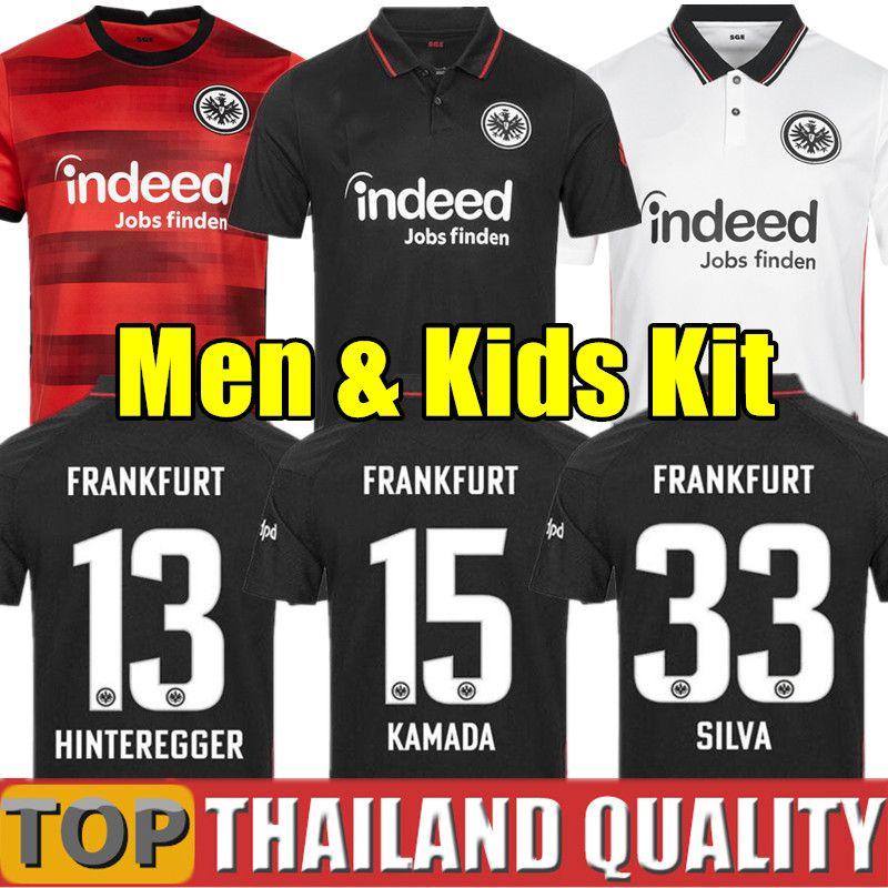 20 21 Eintracht Frankfurt Futbol formaları PACIENCIA KOSTIC HALLER FERNANDES PLATZ FÜR VIELFALt 2020 2021 Futbol forması erkekler çocuklar kiti üniforma