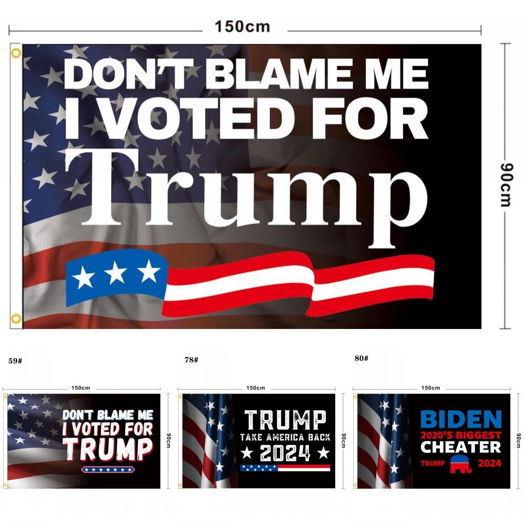 3 * 5ft Fashion Blue Red Trump Flag Flag Bandiere Elezione Banner Donald Mantieni l'America Grande di nuovo Ivanka 150 * 90cm