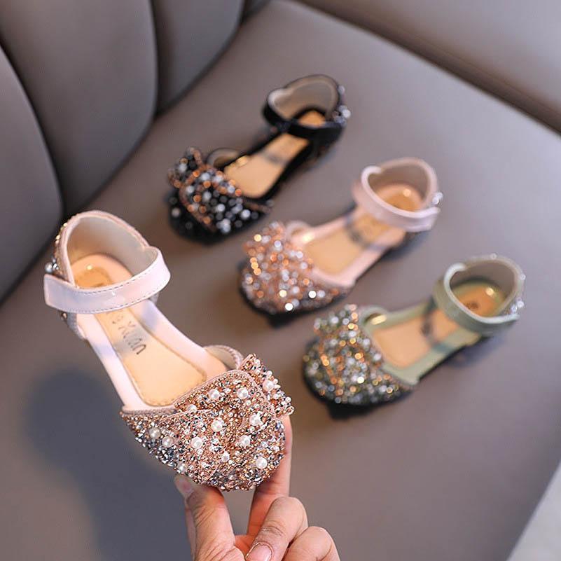 Çocuklar Ayakkabı Çocuk Sandalet Kızlar Ayakkabı Çocuk Ayakkabı Bebek Ayakkabı Bahar Sonbahar Inci Moda Prenses Kız Ayakkabı B4236