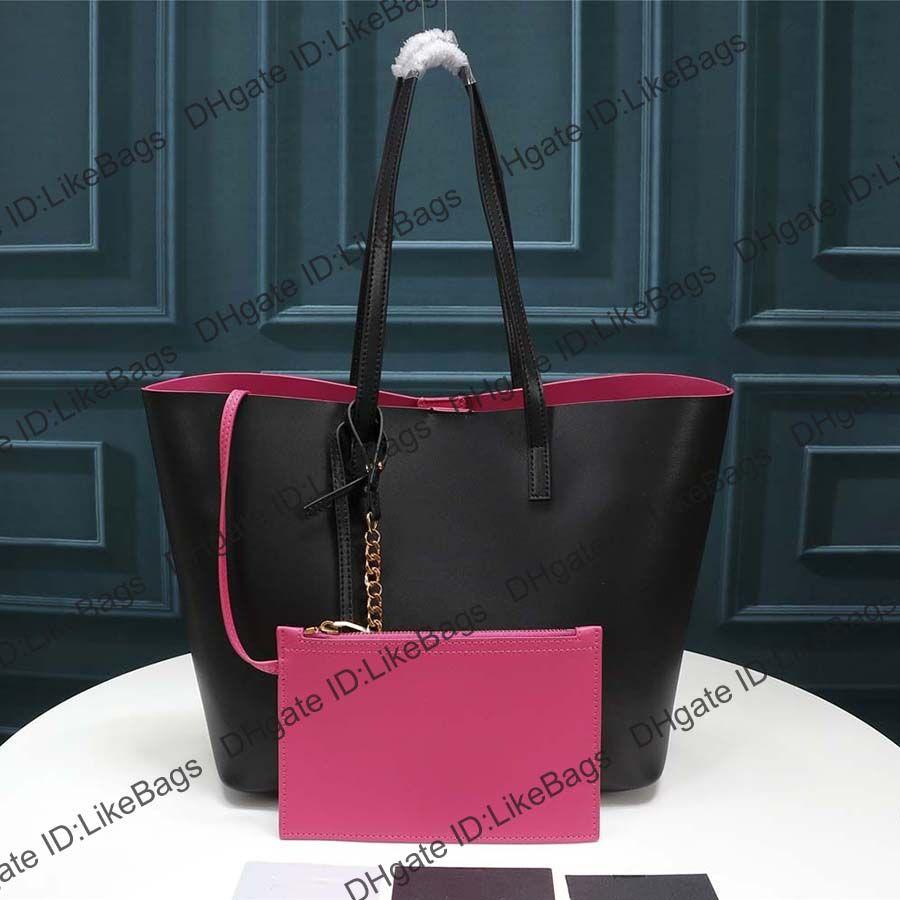 Diseñadores de lujo bolso de mujer bolso de cuero genuino bolso de compras de alta calidad Dos combinadas Ladies Moda Clutch Crossbody Book Tote Messenger Bags