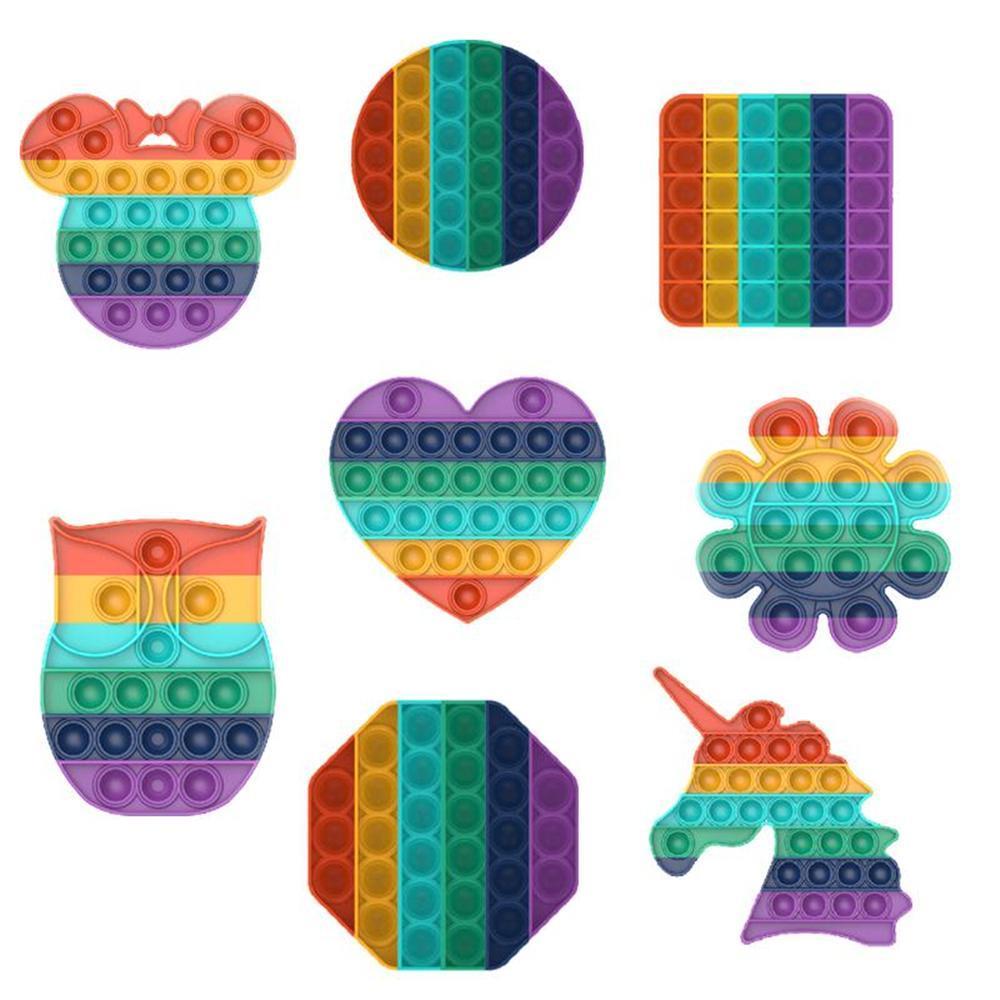 Unicorn pop it rainbow color