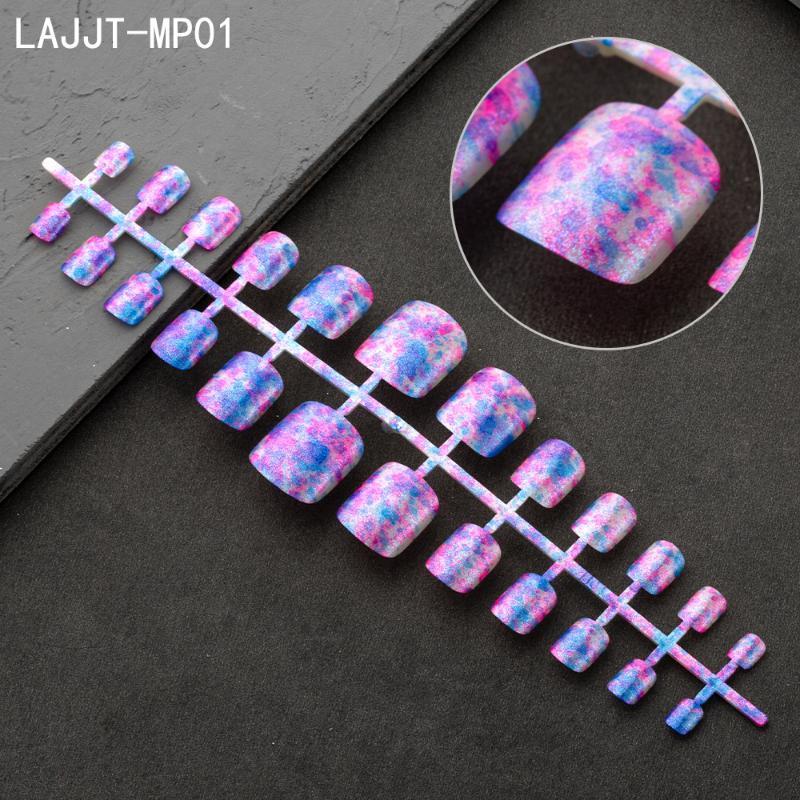 Faux ongles 1pc ongles d'été artificiels presse sur pied coloré design floraison oiseau ongle art décoration pieds manucure outils de beauté