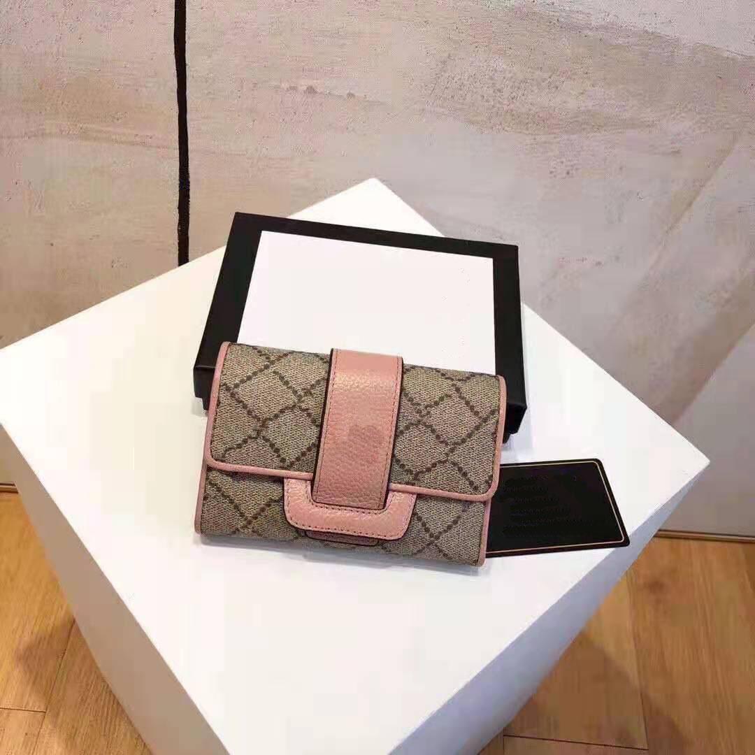 Le nouveau portefeuille féminin multi-fonctionnel chaud est composé de cuir de vachette importé, de fabrication exquise, de super pratique, de noir et de rose.