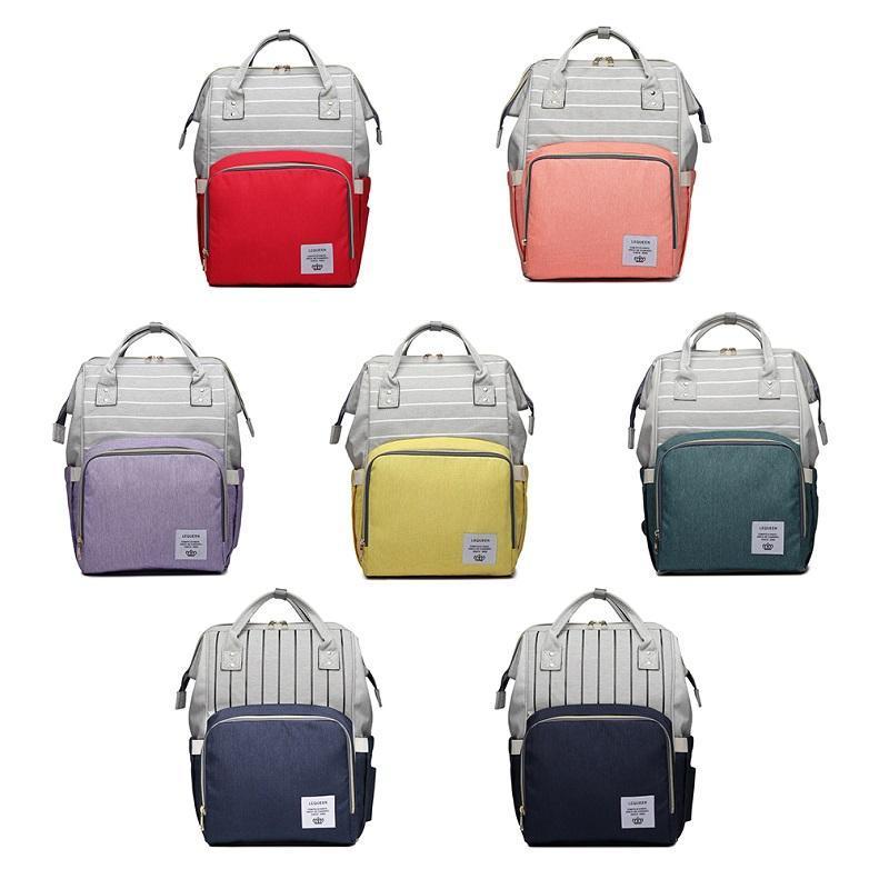 방수 출산 패치 워크 스트라이프 기저귀 가방 디자이너 간호 배낭 베이비 파우치 여행 기저귀 주최자 케이스 가방