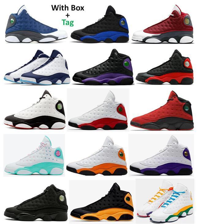 13s Kırmızı Flint Blue Ters Bred Mahkemesi Mor Basketbol Ayakkabıları Erkekler 13 Koyu Pudra Mavi Chicago Oyunu Gibi Lakers Rakipler Denizyıldızı Aurora Yeşil Bahçesi Sneakers