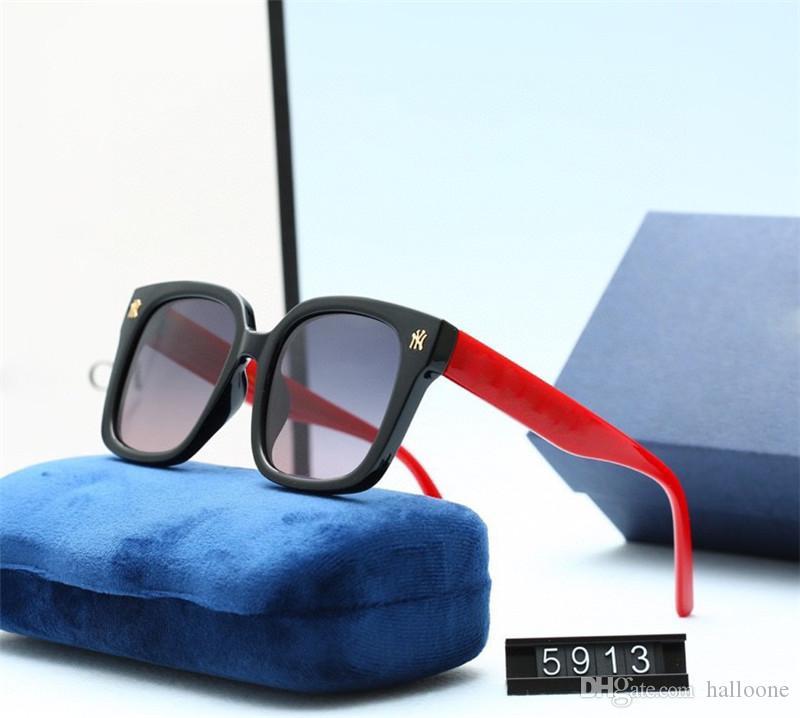 2021 Top-Qualität Outdoor Avant-Garde Designer Luxus Sonnenbrille Millionaire Rahmen mit Kasten