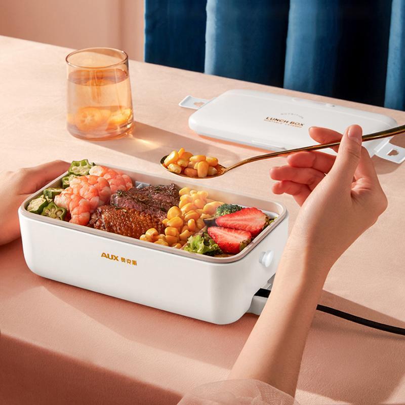 220V caixa de almoço elétrico lancheira portátil caixa de almoço de arroz fogão constante temperatura aquecimento água livre mini mais quente 800ml