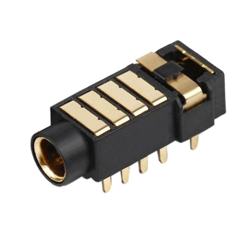 스마트 전원 플러그 12 핀 4.4mm 5 극 스테레오 이어폰 균형 균형 한 여성 플러그 오디오 잭 금속 어댑터 와이어 커넥터