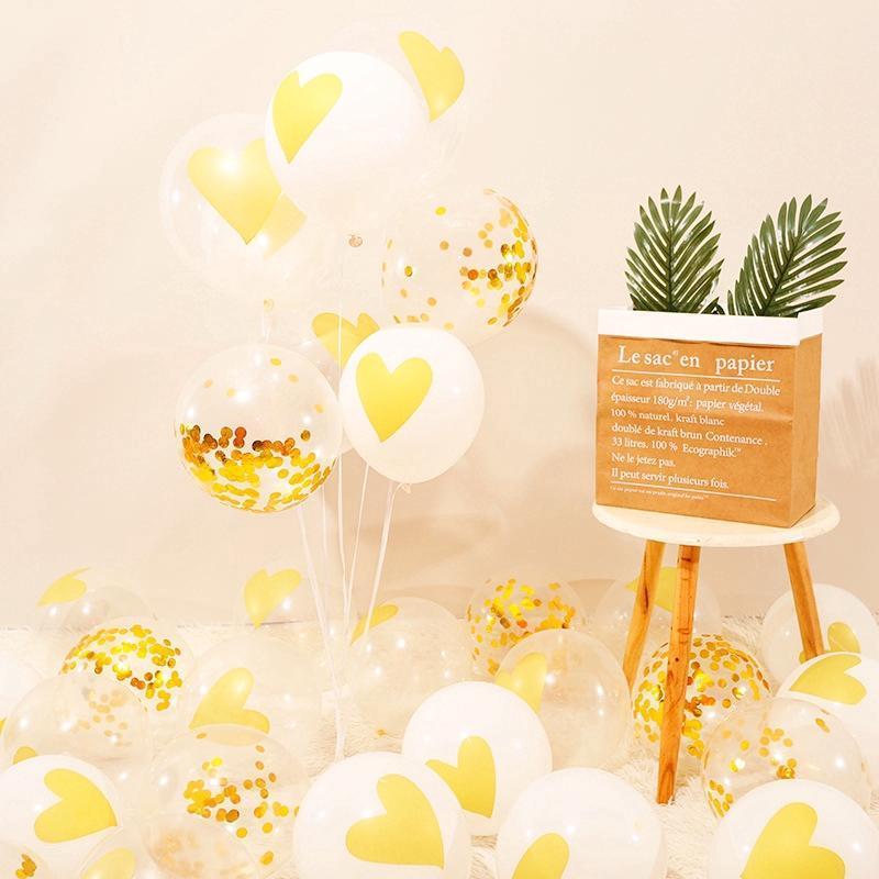 Sevgililer parti malzemeleri kalp balonlar beyaz pembe lateks balon düğün dekorasyon aksesuarları 10 adet bir çanta yuvarlak balonlar TS342
