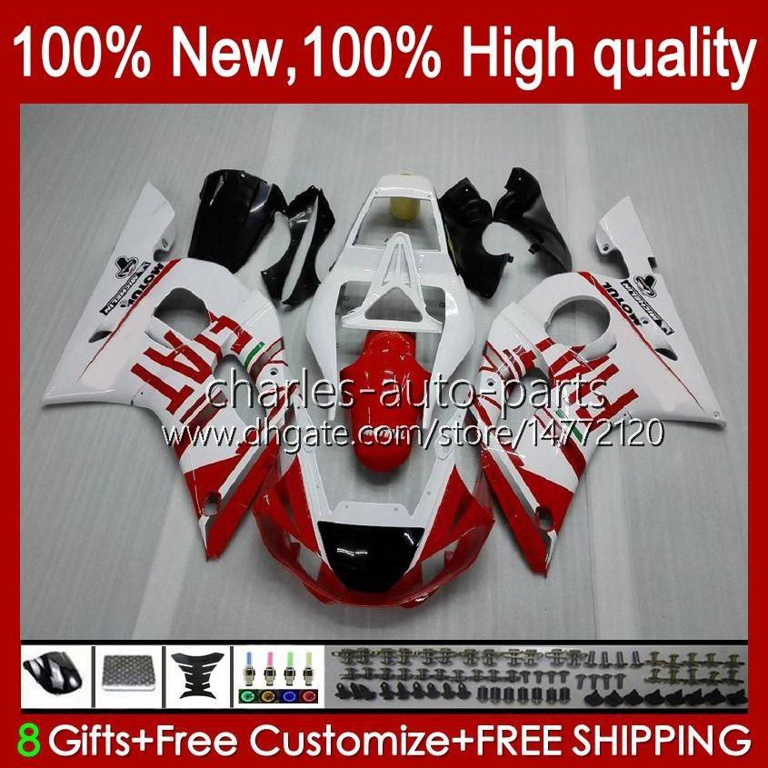 Yamaha Yzf-600 Yzf R6 R 6 600CC Yzfr6 1998 1999 00 01 02 Bodywork 1No.19 YZF 600 CC Cowling YZF-R6 98-02 YZF600 98 99 2000 2001 2002 ABS Fairing Kit Red White Blk