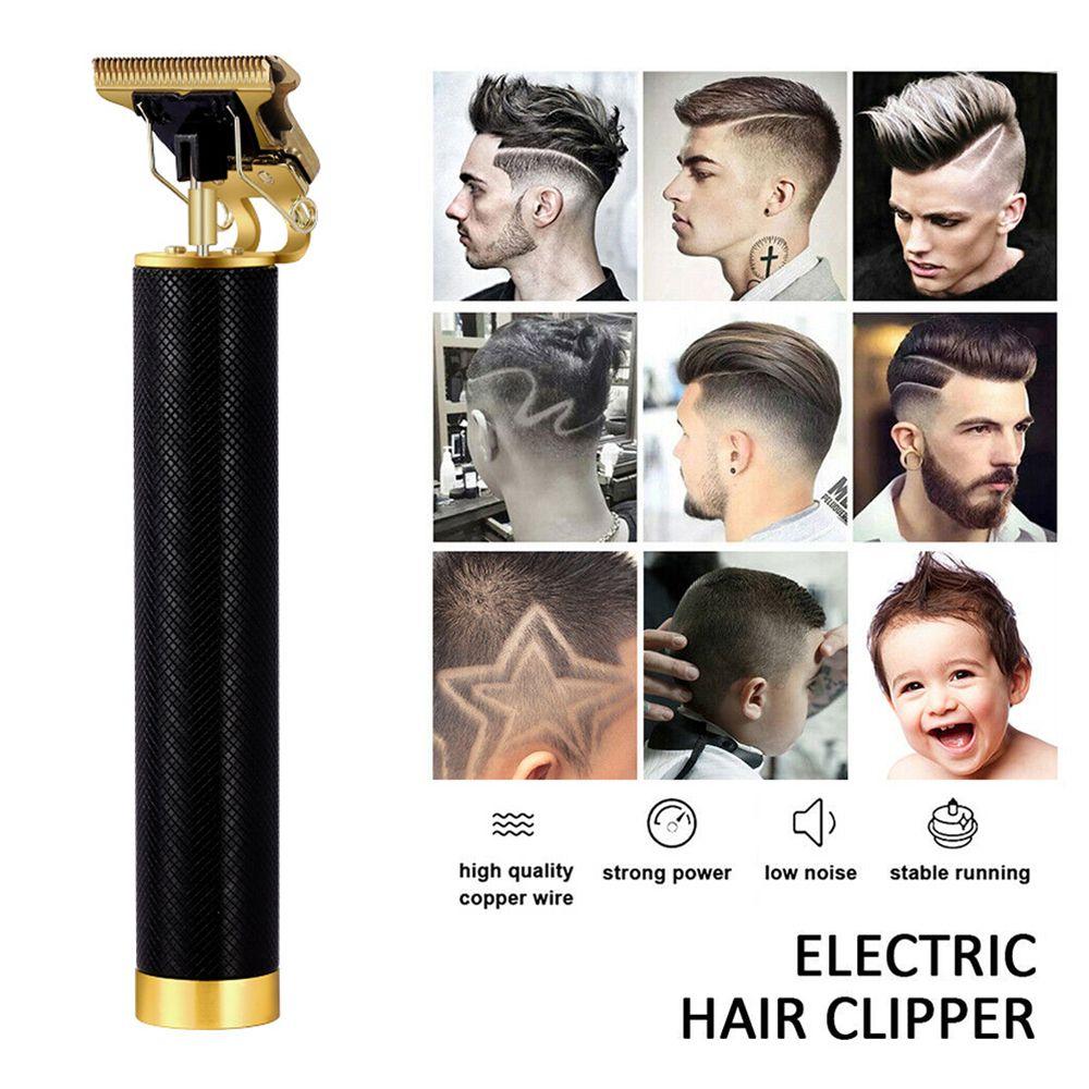 Şarj Edilebilir T9 Baldheaded Saç Kesme Giyotin Erkekler Için Kuaför Akülü Tıraş Makinesi Sakal Giyotin Profesyonel Saç Kesme Makinesi 210302