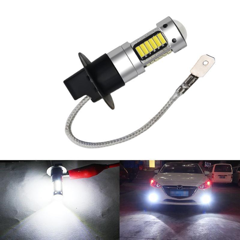 H3 LED لمبة 25W 4014 30SMD ضوء الضباب الأبيض للسيارة