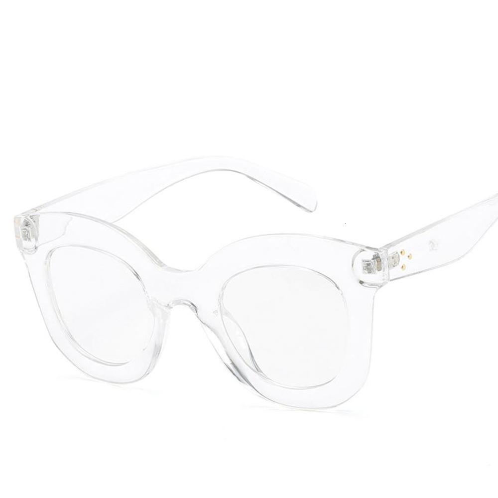 Bianco Unisex Sunglasses Donne 2020 Designer di marca Trasparente Leopard Leopard Ladies Festival Quay Glasses Feminino1