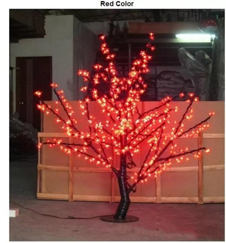 LED Navidad Luz Cerezo Flor de cerezo 480pcs Bulbos LED 1.5m / 5 pies Altura interior o uso exterior Envío gratis
