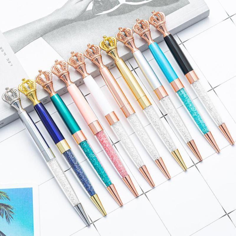 Ballpoint Pens Classic Design Elegant Crown Signature Writing Pen School Student Homework Buy 2 Send Gift