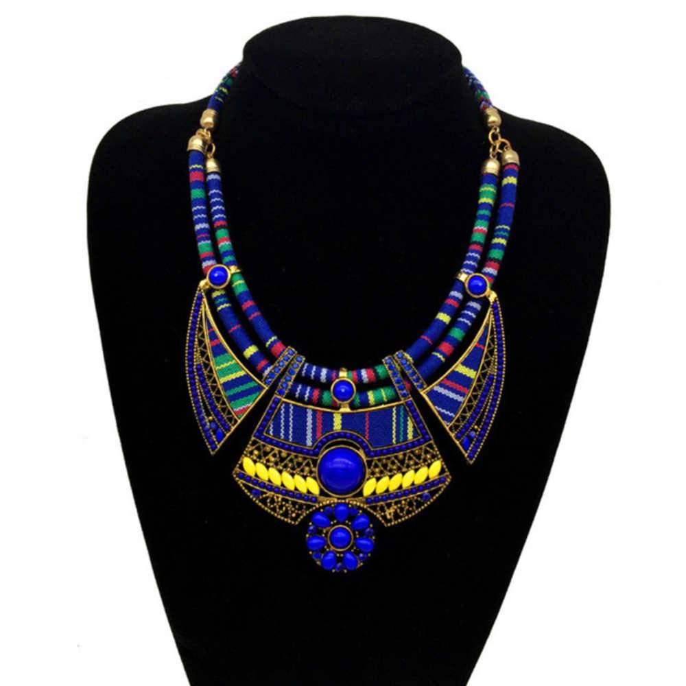 Мода Богемский национальный стиль рисовый бисер алмазные ожерелье ювелирные изделия