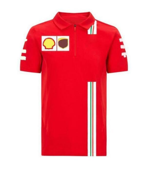 2020 nouveau costume de course F1 T-shirt Polo Chemise Polyester Équipe de séchage rapide Nouveau produit Course de course Vélo Vélo de voiture Spor extérieur à manches courtes à manches courtes
