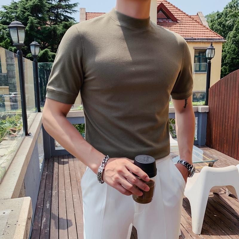 Neue Winterkragen 2021 Kurzarm T Casual Männliches Hemd Komfortables Doppel Gesicht Schnee Velo T-Shirt Homme J0wc