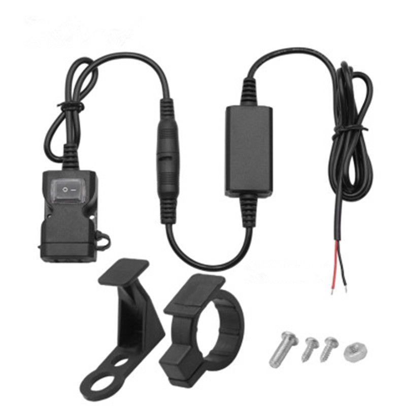 듀얼 USB 포트 3.1A 방수 오토바이 오토바이 핸들 바 충전기 USB 어댑터 전원 공급 장치 소켓 태블릿 GPS 전화 모바일