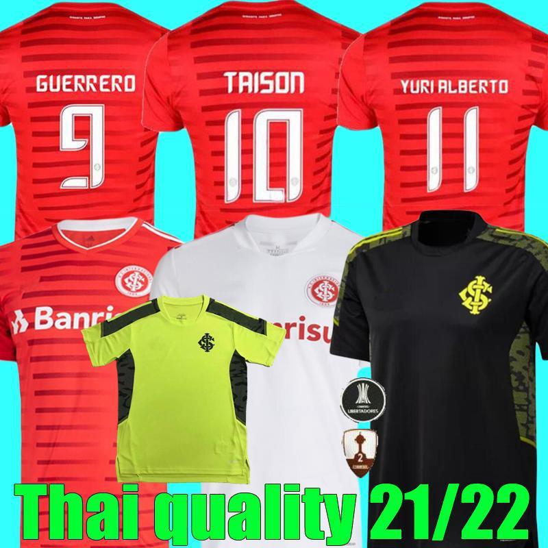 Acquista 2021 2022 SC Internacional Soccer Jerseys Guerrero T.Galhardo Taison V.Cuesta Casa Away 31 21 22 Camicia Da Uomo E Donna Camicia Bambini A ...