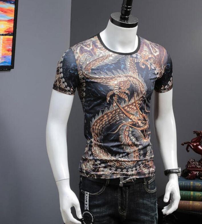 2021 Nouveau t-shirt imprimé homme de coton de glace confortable T-shirt confortable TE1B