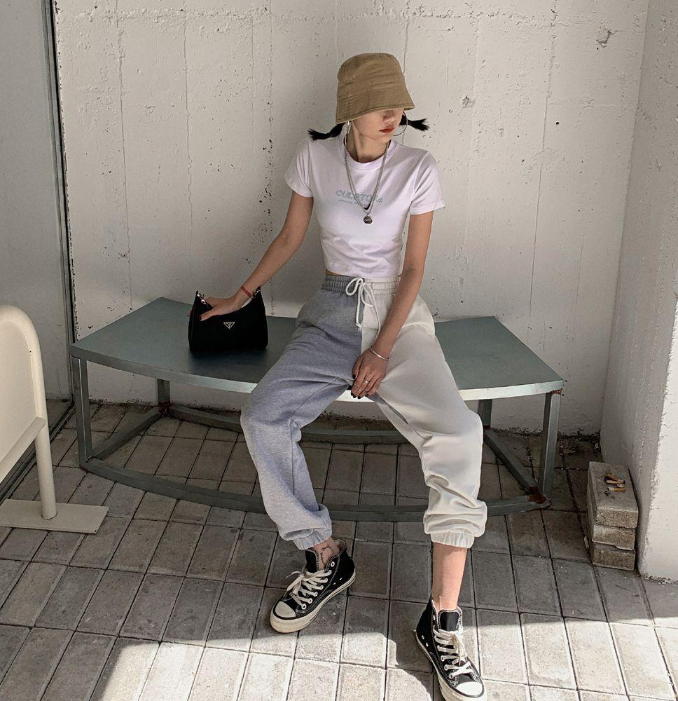 Европейская и американская мода Net Red Harlan Brenees BF BF Beatband Couture Женские повседневные свободные спортивные штаны DV40