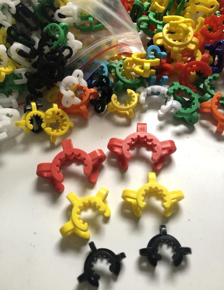 Mais barato ! 10mm 14mm 19mm conjunto conjunto de plástico k clip cor de plástico keck laboratório grampo grampo